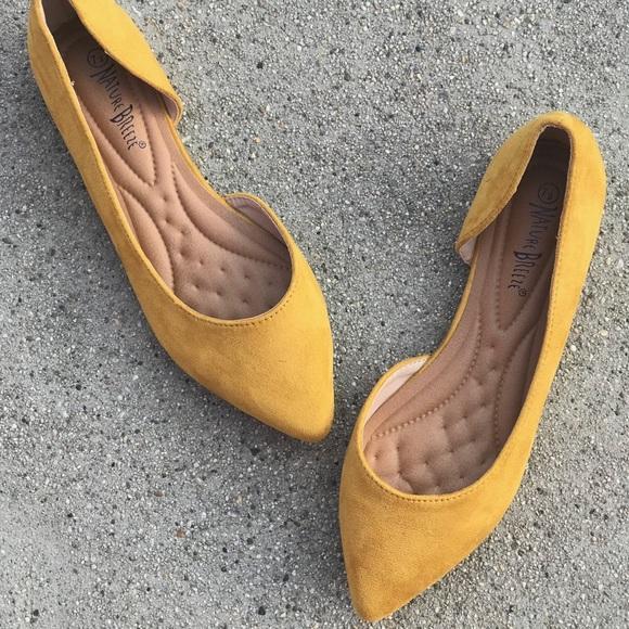 mustard yellow flats target